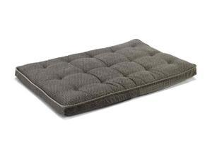 Luxury Crate Mattress in Pewter Bones and Thunder Fabric (X Large: 28 x 42 x 3 in.)