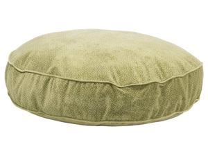 Super Soft Round Bed in Green Apple Bones Fabric (X Large: 52 x 8 in.)