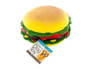 Giant Burger Squeaky Dog Toy - Set of 4