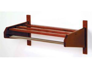 Coat and Hat Rack in Mahogany Finish (25.75 in. W x 15.5 in. D x 11.5 in. H (8 lbs.))