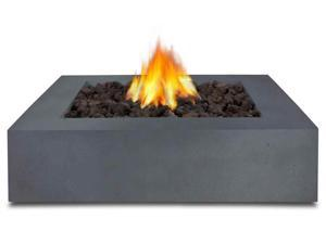 Real Flame Mezzo Square Fire Table in Flint Gray - 9670LP-FG