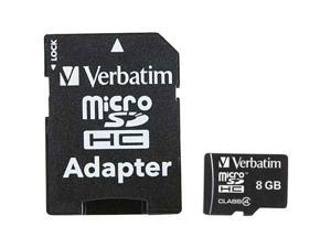 microSDHC Card with Adapter (8GB&#59; Class 4)