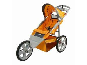 Flash Fixed Wheel Single Jogger in Orange and Gray (Bug Screen for Single Fixed Wheel Jogger Stroller)
