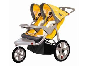 Grand Safari Swivel Wheel Double Jogger in Yellow and Gray (Bug Screen for Double Swivel Wheel Jogger Stroller)