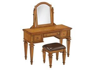 Bedroom Vanity Set in Distress Oak Finish