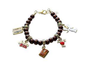 Religious Charm Bracelet in Gold