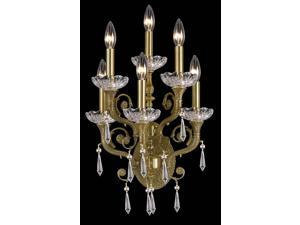Crystorama Regal Brass Hand Cut Crystal Wall Sconce 5176-AG-CL-MWP