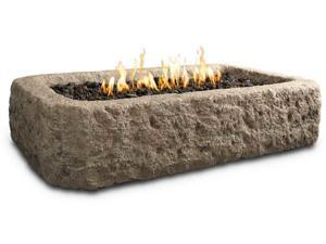 Antique Stone Rectangle Table Top Fire Pit