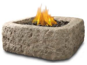 Antique Stone Square Table Top Fire Pit