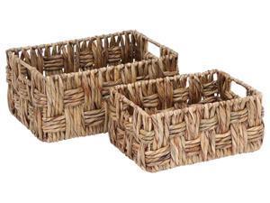 2-Pc Basket with Wicker Basket Set