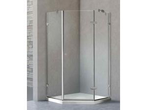 Frameless Shower Enclosure with Base (42.13 in. W x 42.13 in. D x 76.75 in. H)