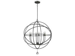 Crystorama Solaris English Bronze chandelier transitional Solaris 9228-EB