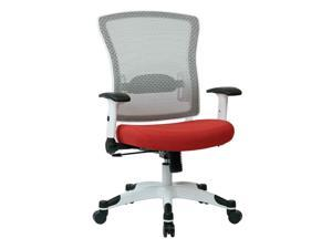 White Frame Managers Chair with Adjustable Lumbar Support