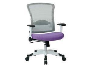 White Frame Managers Chair with Adjustable Armrest