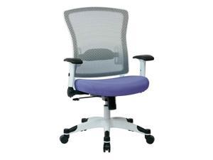 White Frame Managers Chair with Padded Seat