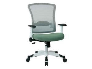 White Frame Managers Chair with Padded Arms