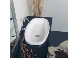 Ceramica 29.5 x 14.8 Self Rimming Bathroom Sink