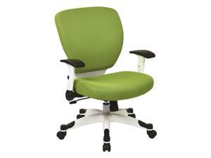 Managers Chair with Green Padded Mesh Seat and Back
