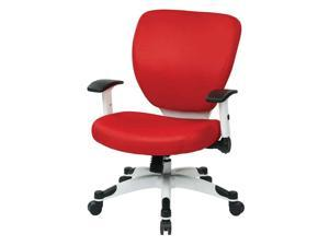 Managers Chair with Red Padded Mesh Seat and Back