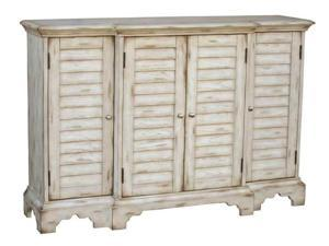 Console with Shutter Effect Panels in White