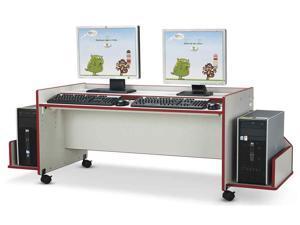Kids Enterprise Double Computer Desk (Green)