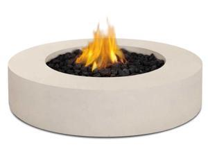 Real Flame Mezzo Round Fire Table in Antique White - 9660LP-AW