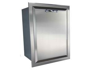 Fully Enclosed Stainless Steel Trash Drawer