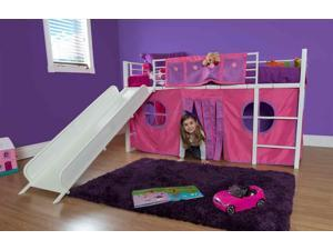Dorel Home Products Fantasy Loft Bed Curtain Set - Pink