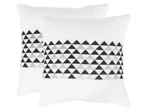 Geo Mountain Slate Decorative Pillow - Set Of 2 (20 in. W x 2.5 in. D x 12 in. H (2 lbs.))