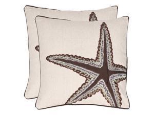 Richard 18 in. Ecru Decorative Pillows - Set of 2