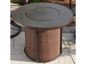 Fire Pit Table with Round Stone Fire Top
