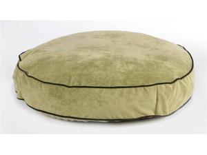Diamond Microvelvet Round Super-Soft Pet Bed - Celery (X Large: 52 x 8 in.)