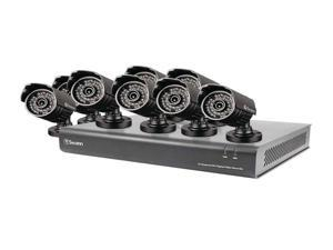 16-Channel DVR with 8 Security Cameras at 720TVL