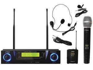 Professional UHF Dual Channel Wireless Microphone System
