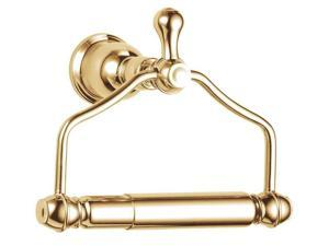 Single Post Toilet Paper Holder in Polished Brass
