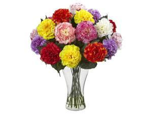 Carnation Multicolor Arrangement with Vase