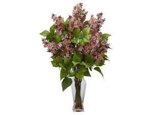 Lilac Silk Flower Arrangement in Pink