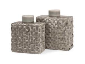 Sophie Woven Ceramic Canisters - Set of 2