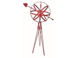 Sphere with Hairpin Base in Red Finish