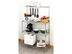 Bakers Rack with Heavy Duty Chromed Wire Shelving