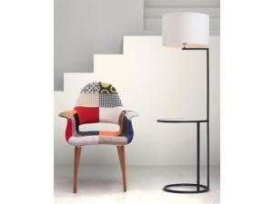 Floor Lamp in White/Black