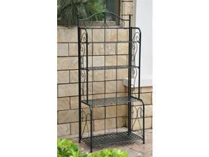 4-Tier Iron Indoor/Outdoor Bakers Rack (Verti Gris)