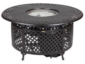 Venza Cast Aluminum Round LPG Fire Pit in Bronze Finish