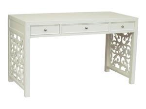 3-Drawer Desk in White Finish
