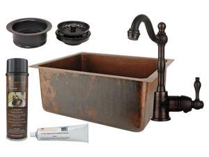 Traditional Counter Deck Mount Prep Sink with Faucet