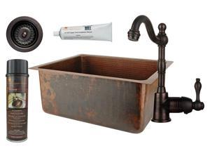 Traditional Counter Deck Mount Prep Sink with Accessories