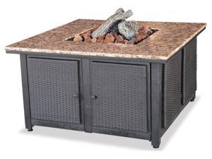 Uniflame Lp Gas Outdoor Firebowl With Granite Mantel GAD1200B
