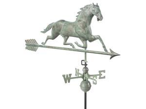 Horse Weathervane with Arrow in Blue Verde