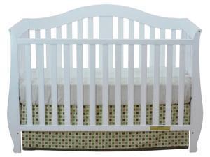 4-in-1 Convertible Crib in White Finish