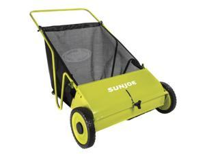 26 in. Manual Push Lawn Sweeper in Green and Black